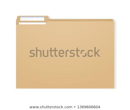 mappák · címke · jövedelem · pénz · asztal · hát - stock fotó © zerbor
