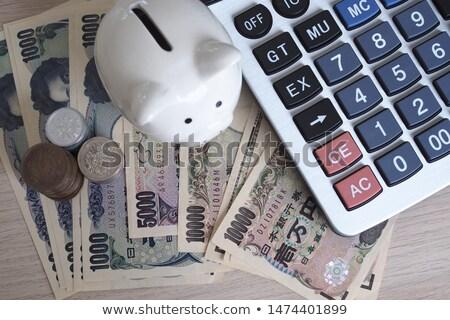 Számológép japán yen jegyzet papír piros Stock fotó © rufous