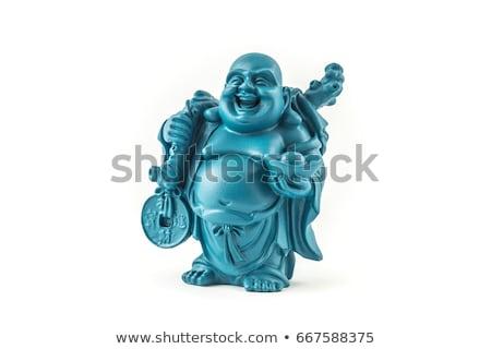 Statua felice buddha isolato bianco home Foto d'archivio © michaklootwijk