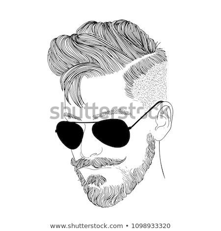 Portret śmierci przystojny mężczyzna szczęśliwy model Zdjęcia stock © meinzahn
