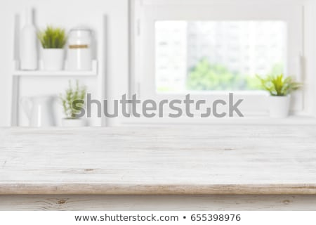 Empty flower pots on kitchen table Stock photo © stevanovicigor