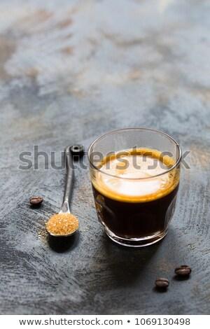 Café noir sucre tasse Rock couleur chaud Photo stock © raphotos