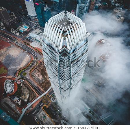 Hong-Kong · lourd · smog · bâtiment · ville · coucher · du · soleil - photo stock © leungchopan