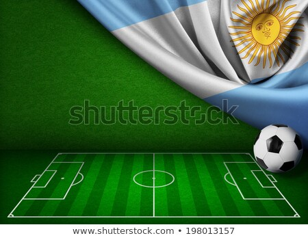Soccer ball with Argentina flag on pitch Stock photo © stevanovicigor