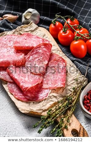 Stock photo: spanish salchichon