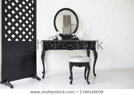 красивой брюнетка женщины белья черный женщину Сток-фото © vanessavr