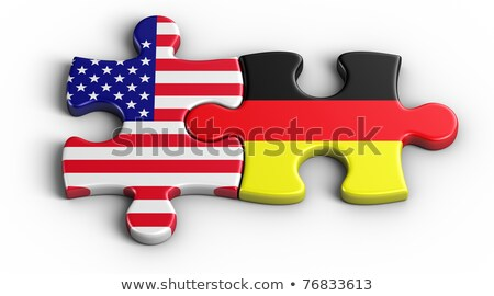 USA and German Flags in puzzle Stock photo © Istanbul2009