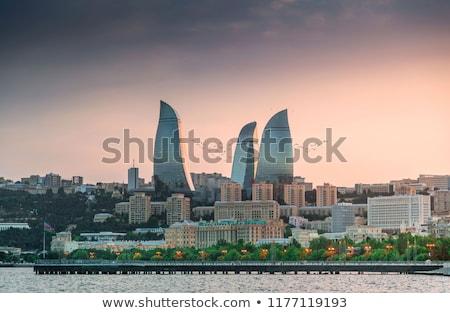 ночь Skyline Азербайджан небе город морем Сток-фото © Elnur