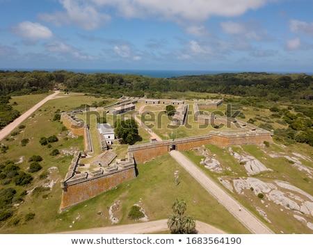 Mikulás erőd Uruguay égbolt épületek építészet Stock fotó © xura