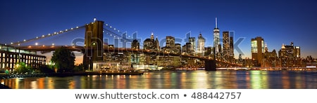 Panorama verlagen Manhattan schemering New York City uitwisseling Stockfoto © backyardproductions