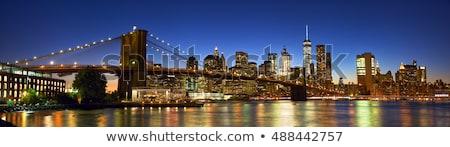 Stock fotó: Panorama Of Lower Manhattan At Dusk