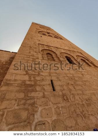 Középkori torony Marokkó kék ég város művészet Stock fotó © Hofmeester