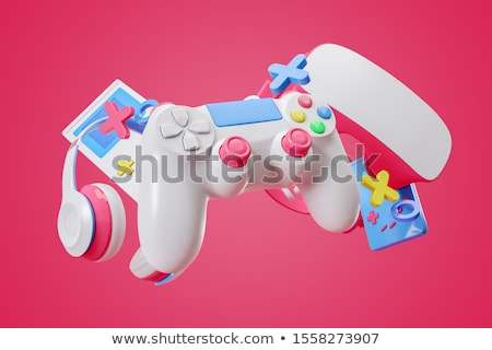3D jeu consoler gamepad isolé blanche Photo stock © texelart