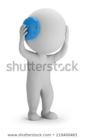 3D · kicsi · emberek · stressz · személy · tart - stock fotó © anatolym