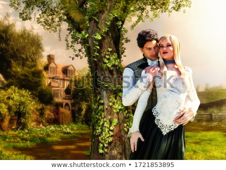 beautiful young woman in victorian style costume stock photo © elisanth