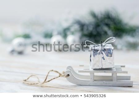 Wooden Sledge in the snow Stock photo © stevanovicigor