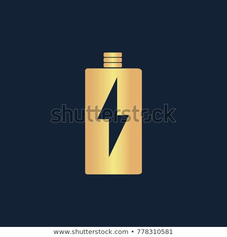 Battery Gold Vector Icon Button Stock photo © rizwanali3d
