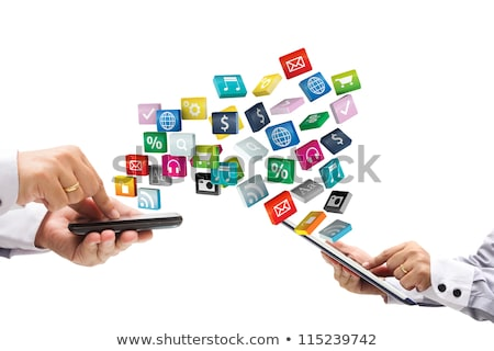 Global telecommunication on white background. Isolated 3D image Stock photo © ISerg