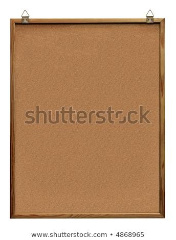 Corcho memoria bordo percha pieza blanco Foto stock © stevanovicigor
