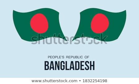 Mapa bandeira botão povos república Bangladesh Foto stock © Istanbul2009