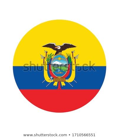 Icon vlag Ecuador geïsoleerd witte reizen Stockfoto © MikhailMishchenko