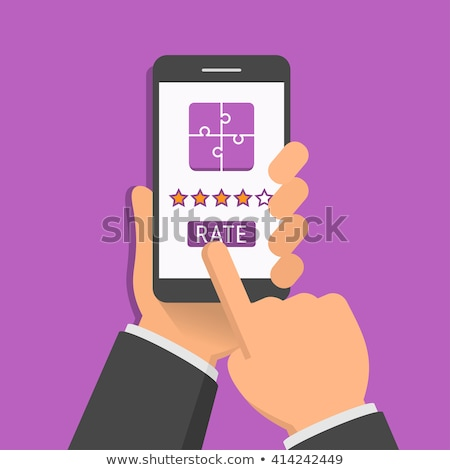 Illustration of hand holding smartphone with customer survey on Stock photo © hd_premium_shots