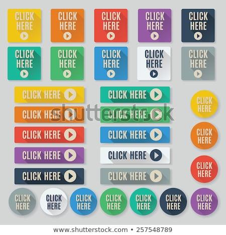 Kliknij tutaj fioletowy wektora ikona przycisk Internetu Zdjęcia stock © rizwanali3d