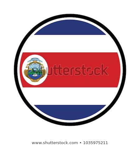 Costa Rica bandera mapa país forma Foto stock © tony4urban