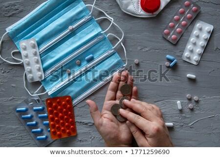 UAE Currency Dirhams and Medicine Pills Stock photo © Akhilesh