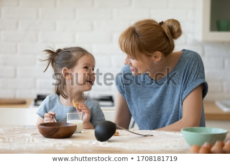 クッキー ミルク プレート チョコレート チップ ガラス ストックフォト © randomway