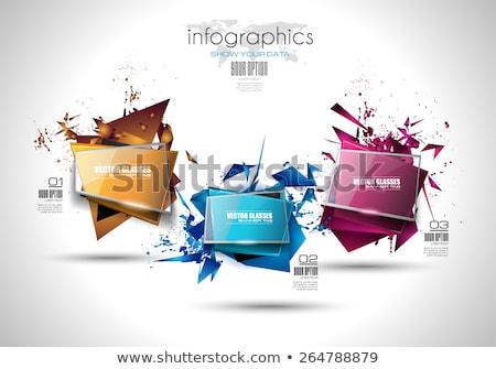 szett · bannerek · absztrakt · árnyékok · üzlet · művészet - stock fotó © davidarts