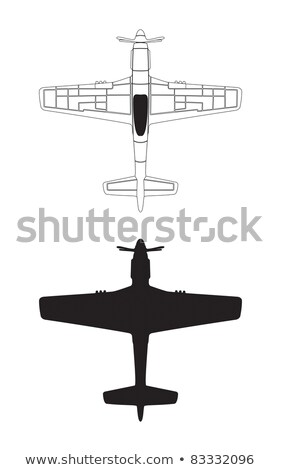 P-51 Mustang WWII Airplane Illustration Stock photo © jeff_hobrath