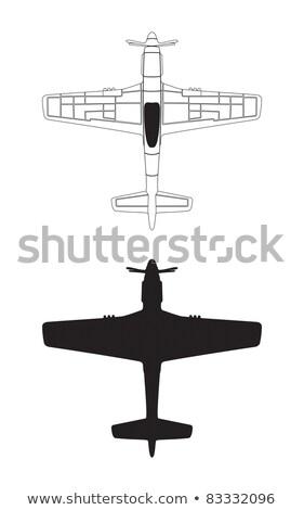 Mustangue avião ilustração aeronave legal Foto stock © jeff_hobrath