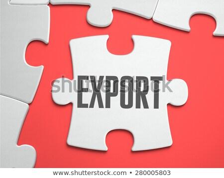 Export puzzle hely hiányzó darabok szöveg Stock fotó © tashatuvango