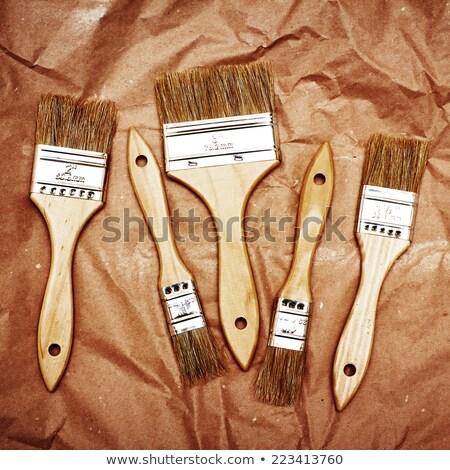 borstel · papier · houten · textuur · witte - stockfoto © dariazu