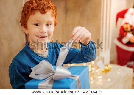 natal · colete · branco · sorridente - foto stock © wavebreak_media