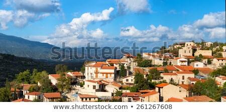 деревне Панорама Кипр дома пейзаж домой Сток-фото © Kirill_M
