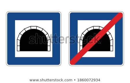 Stock fotó: Figyelmeztető · jel · tér · vektor · kék · ikon · terv
