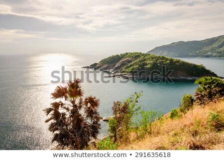 High angle view island and Andaman sea Stock photo © Yongkiet