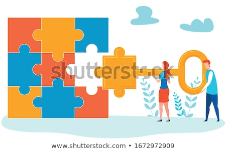 Secure - Jigsaw Puzzle with Missing Pieces. Stock photo © tashatuvango