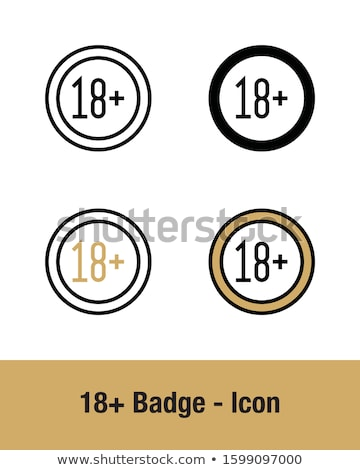 Adult content badge with black ribbon label Stock photo © vipervxw