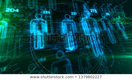 Bűnözés gyakoriság absztrakt digitális illusztráció digitális kollázs Stock fotó © kgtoh