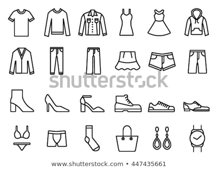 Woman's clothes icons  Stock photo © Winner