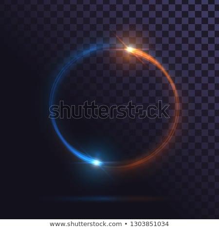 vector · azul · amarillo · eléctrica · energía - foto stock © netkov1