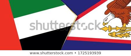 Emirados Árabes Unidos Samoa Americana bandeiras quebra-cabeça isolado branco Foto stock © Istanbul2009
