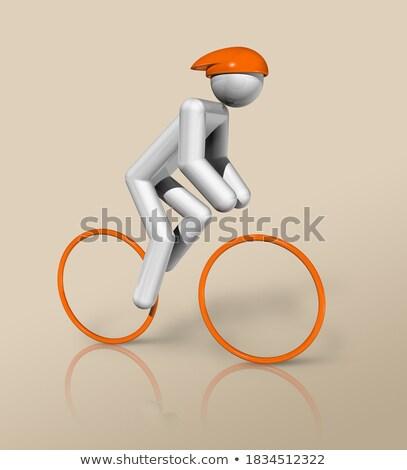 Fantoche ciclo corrida brinquedo comida montanhas Foto stock © compuinfoto