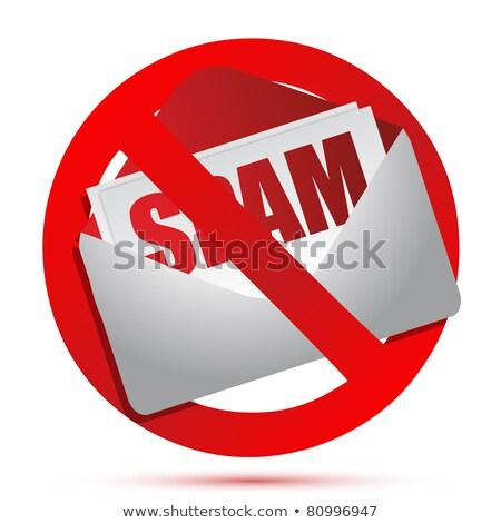 Geen meer spam bericht envelop internet Stockfoto © fuzzbones0