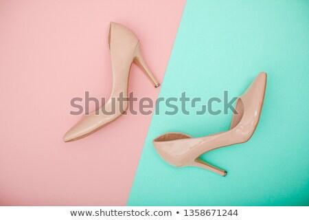 shoe on female palm stock photo © geniuskp