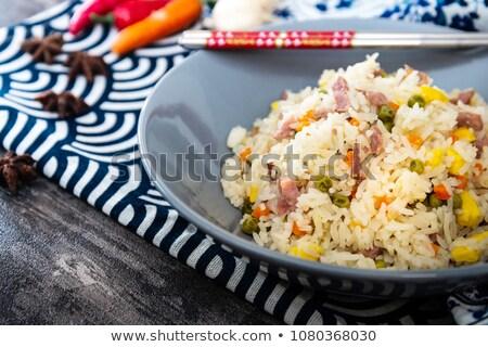 Cantonese Rice Chinese Food ストックフォト © ilolab