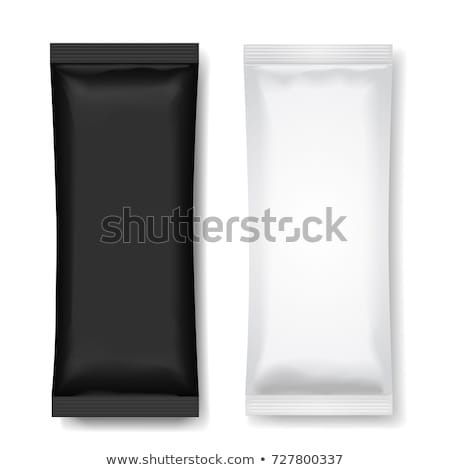 White wet wipes package isolated on black background Stock photo © netkov1